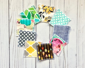 Set of 7 reusable makeup pad, teen gift, reusable cotton round, face wipe, makeup remover, makeup remover pad, makeup rounds, zero waste