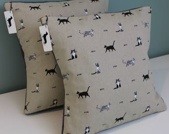 Handmade Cat Cushion Covers | Designer Fabric by Sophie Allport | Variety of Sizes