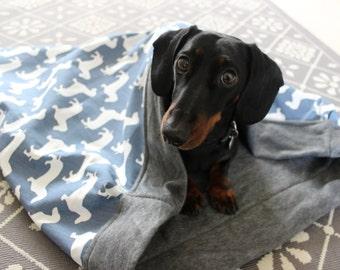Dachshund Cotton Snuggle Sack   Dog Bed   Dog Blanket