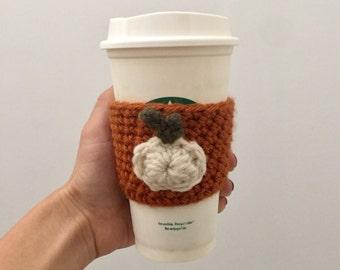Pumpkin Cup Cozy - White Pumpkin