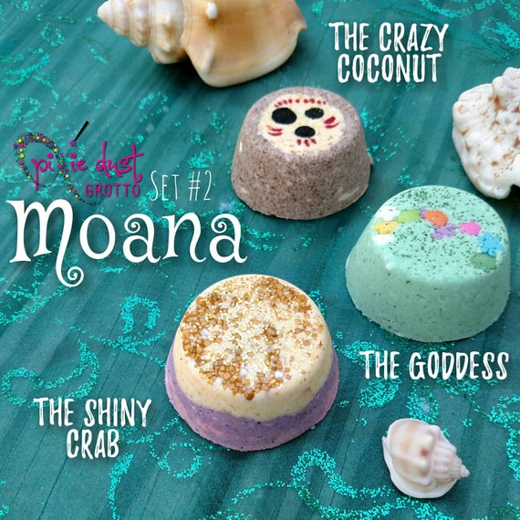 Moana Inspired Mini Bath Bomb Set Tefiti Princess