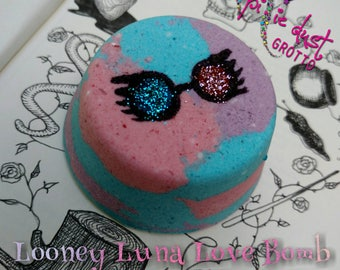 Looney Luna love bomb, Harry Potter inspired, bath bomb, Luna lovegood, ravenclaw, mom bomb, 4 oz