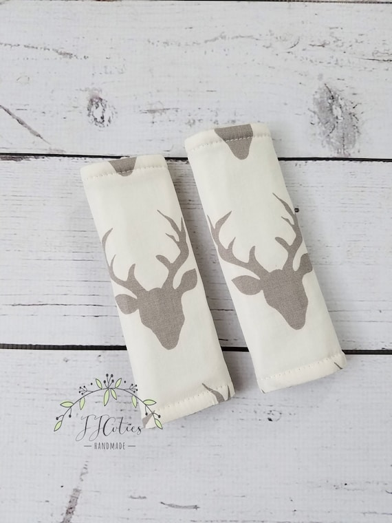 Baby Car Seat Strap Cover Deer Head Neck