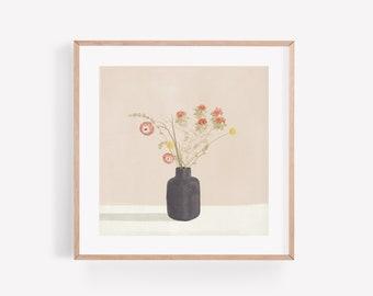 Sunset Flowers – Square Print 21cm x 21cm