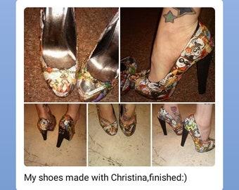 5aa50093ca1c Harley Quinn Decoupage Shoes