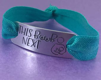 Nursing bracelet, This boob next bracelet, breastfeeding reminder bracelet, baby's next feed, this side next, nursing jewellery,