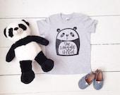 The Snuggle Is Real Panda tshirt, toddler tee, trendy kids tee, graphic tee, panda bear shirt, kids tee