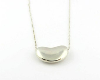 e963dff720 Authentic TIFFANY & CO Sterling Silver Large Bean Pendant Necklace