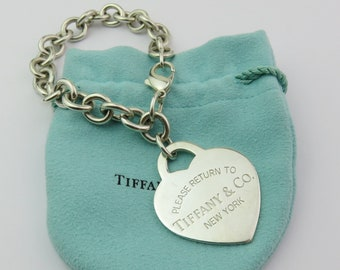 778bba224a7e Authentic TIFFANY   CO Sterling Silver Return to Tiffany Large Heart  Bracelet
