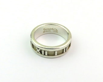 35bd9169f Authentic Tiffany & Co Sterling Silver Atlas Ring Size 5.25
