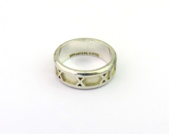 0d6cffc35 Authentic Tiffany & Co Sterling Silver Atlas Ring Size 5.5