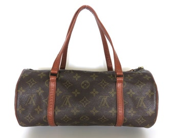 ee1bbbbfbbe7 Authentic LOUIS VUITTON Monogram Canvas Leather Papillon 30 Shoulder Bag  Purse