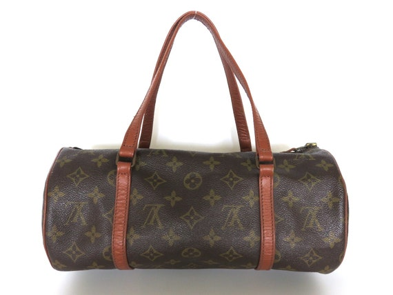Authentic LOUIS VUITTON Monogram Canvas Leather Papillon 30  4d071d690d4d6