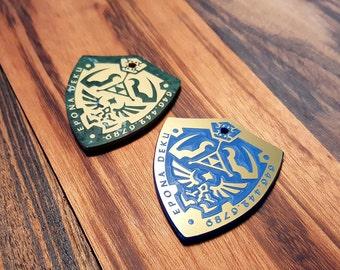 Zelda Pet ID Tag / Hylian Shield Pet ID Tag / Link Master Shield Pet ID Tag / Custom Engraved Pet Id Tag / Dog Tag