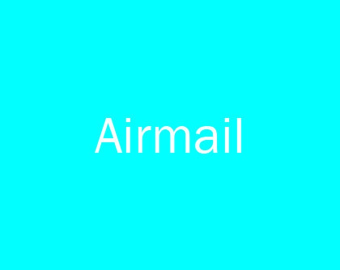 Postage: Airmail Europe