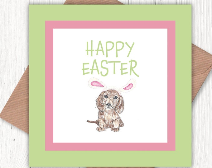 Easter card from the dog, dog easter card, dog lover's card