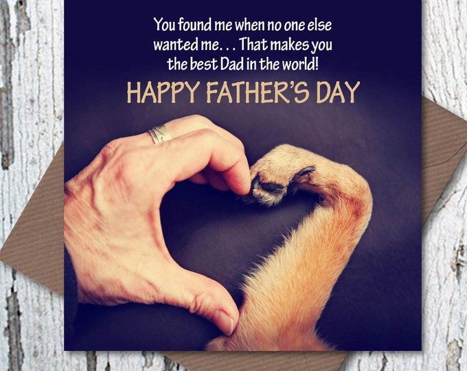 Happy Father's Day Card – Rescue Dog Dad, dog dad card