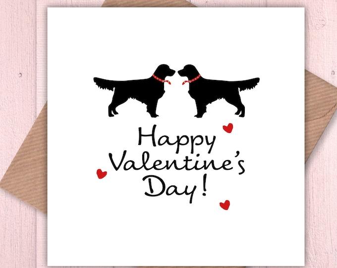 Happy Valentine's Day card, Retriever card