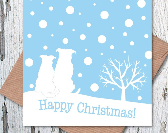 Dog Lovers' Christmas Greetings Card – Snow Scene
