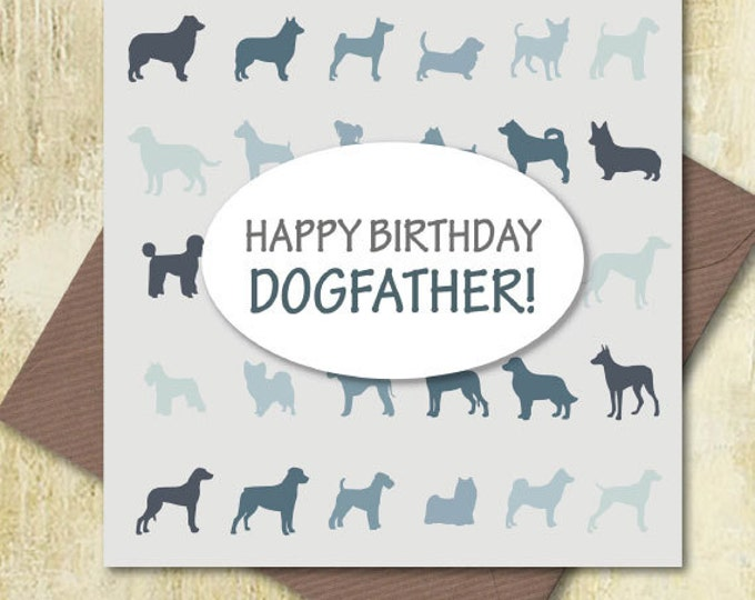 Happy Birthday Dogfather greetings card