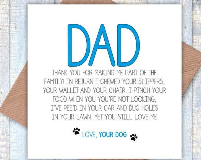 Dad… Thanks You for Making Me Part of the Family greetings card, birthday card, Father's Day card