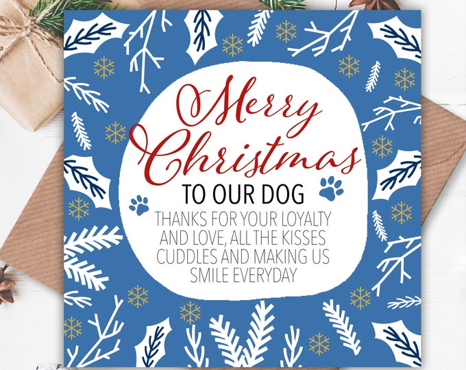 Merry Christmas to our dog card