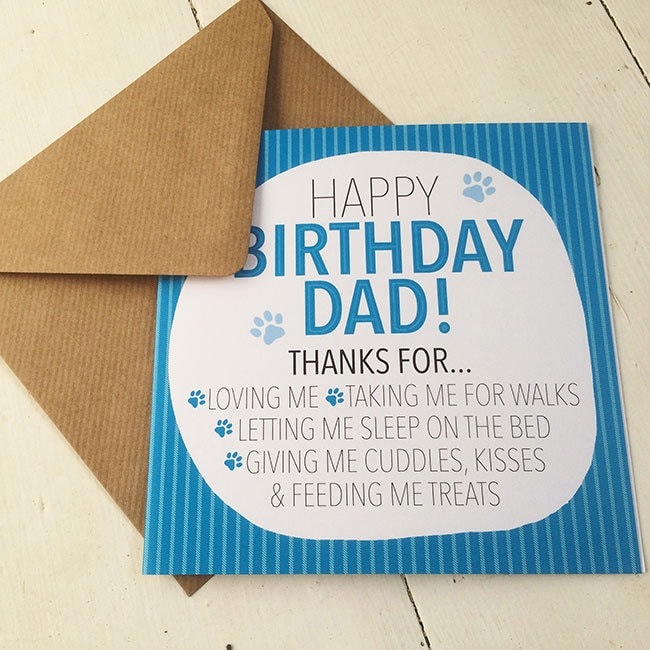 Happy Birthday Dad From Your Dog Lovers Cards
