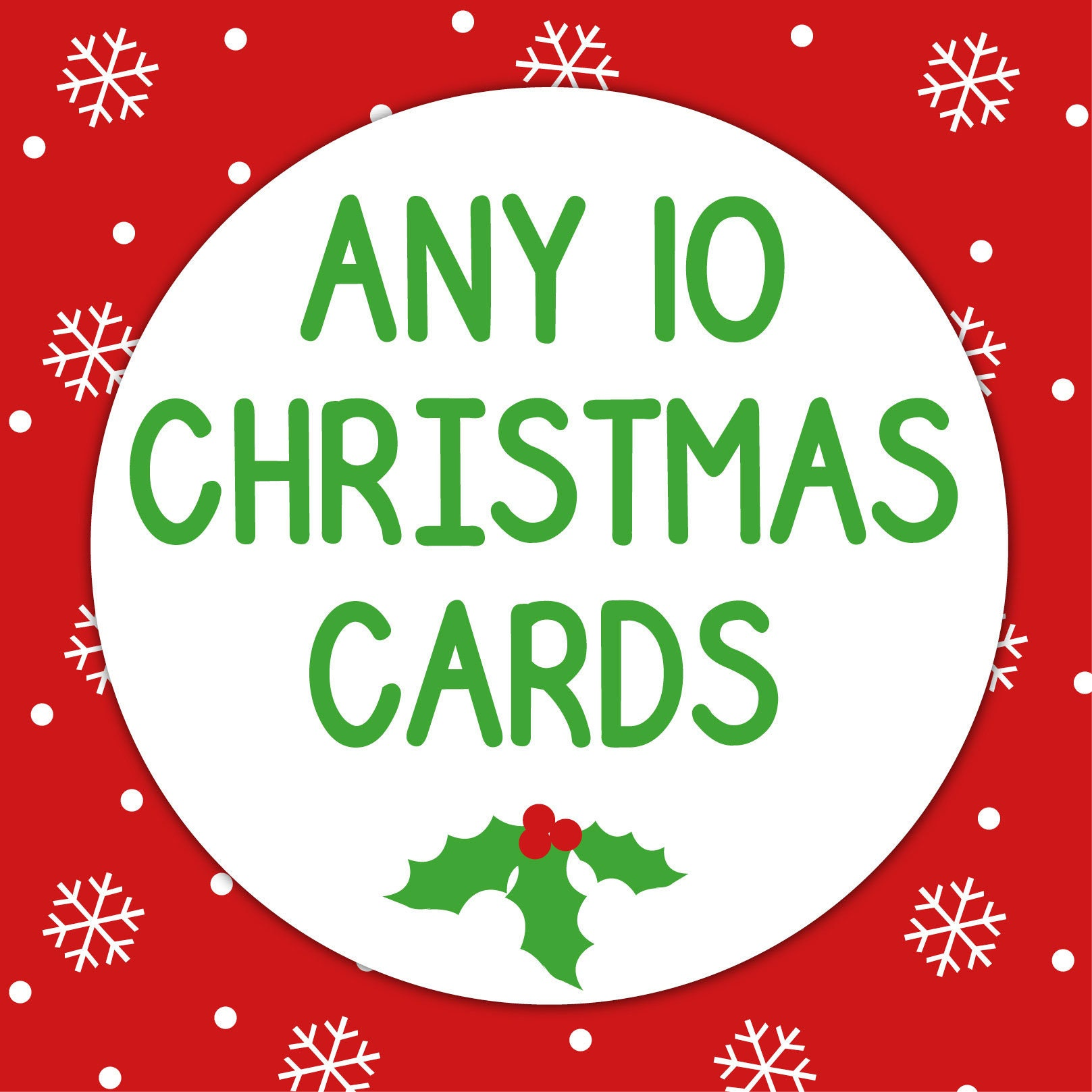 Buy any 10 cards from our unique range of Christmas cards