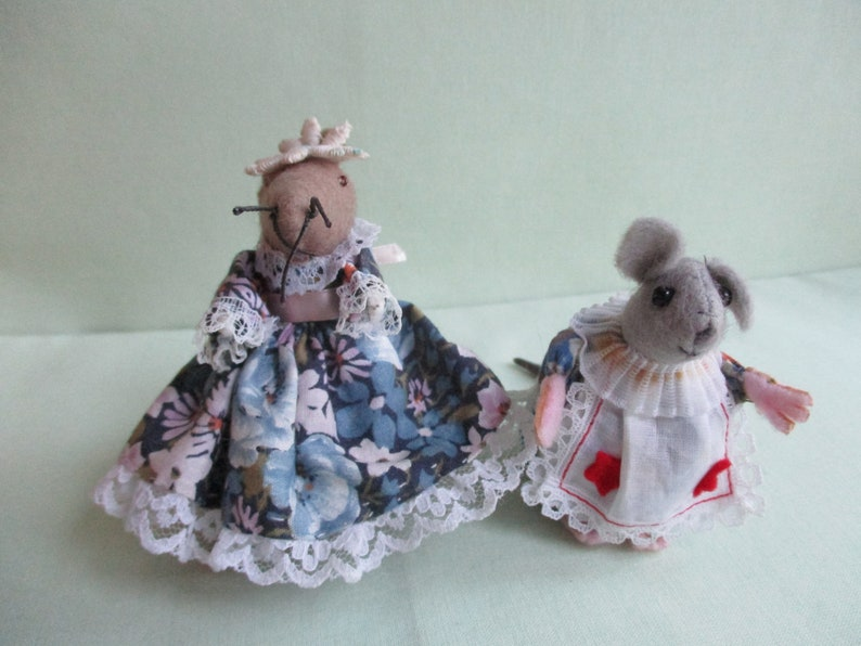3941b91296 Two handmade felt mice   Mother and child mice   Dolls house