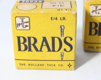 "Brads Nails 3/4"" The Holland Tack Co. Conn USA"