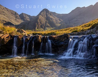 Landscape Photography, Digital Download, Instant Downloadable Wall Art Print, Fairy Pools, Isle Of Skye, Scotland