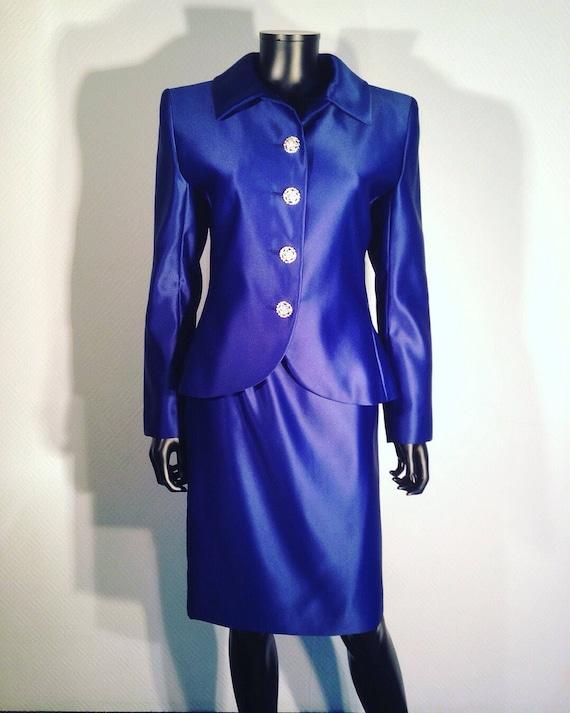YVES SAINT LAURENT - Suit jacket skirt