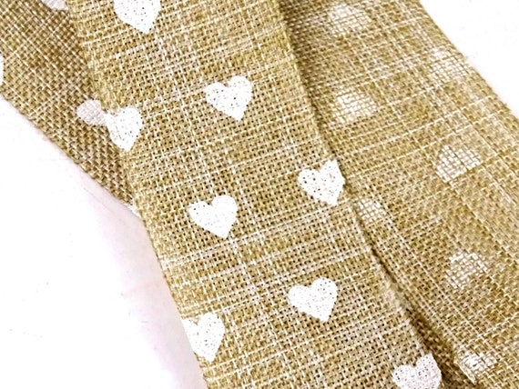 2.5cm Wide Kraft Hessian Jute Ribbon Rustic Burlap Art Craft Wedding 2 Metre
