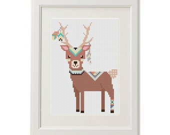 Animals cross stitch be brave pattern printable pdf chart etsy deer cross stitch pattern baby forest animals baby cross stitch pattern animal arrow feathers pens ethnic design pattern crossstitching fandeluxe Choice Image
