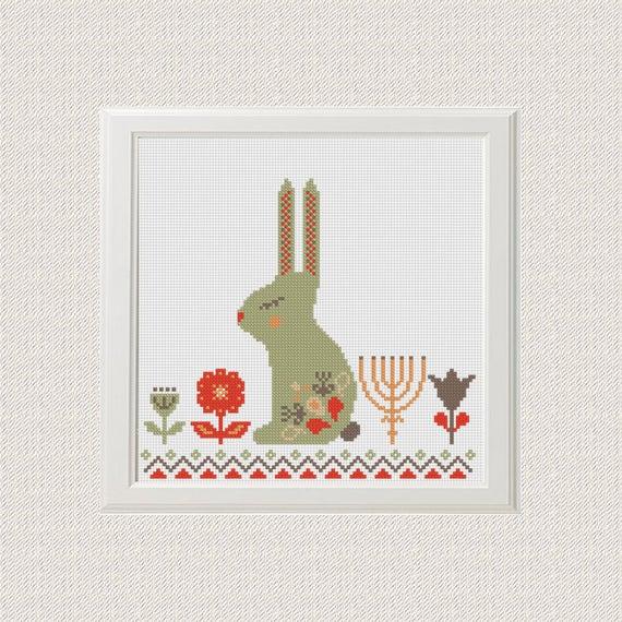 Ostern Kreuzstich Muster Kaninchen Kreuzstich Muster Hase | Etsy