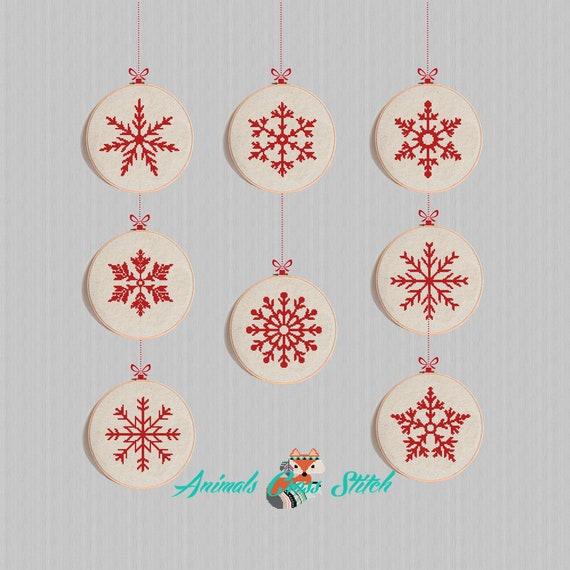 christmas Snowflakes cross stitch pattern modern Snowflakes | Etsy