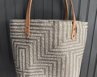 Bags and purses pattern, canvas tote bag, leather handle tote, everyday tote,  shopper tote bag, handbag. af83a7a8df