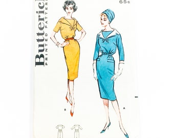 60s Dress Pattern | Butterick 9134 Misses Party Dress Pattern | 60s Sewing Pattern