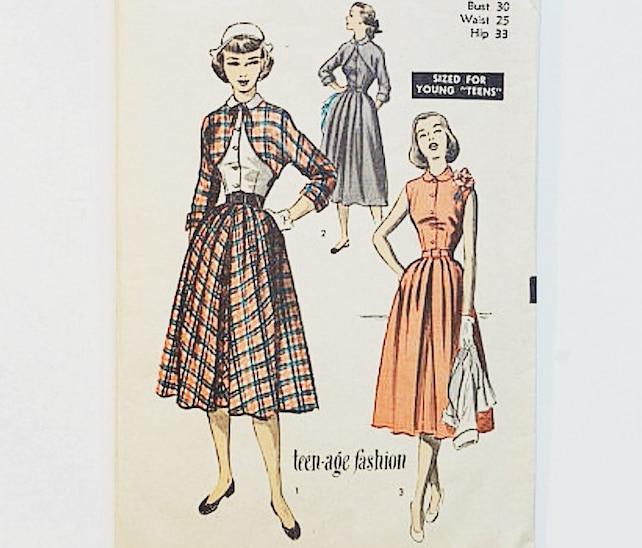años 50 vestido y patrón de Bolero Avanzar en patrón de   Etsy