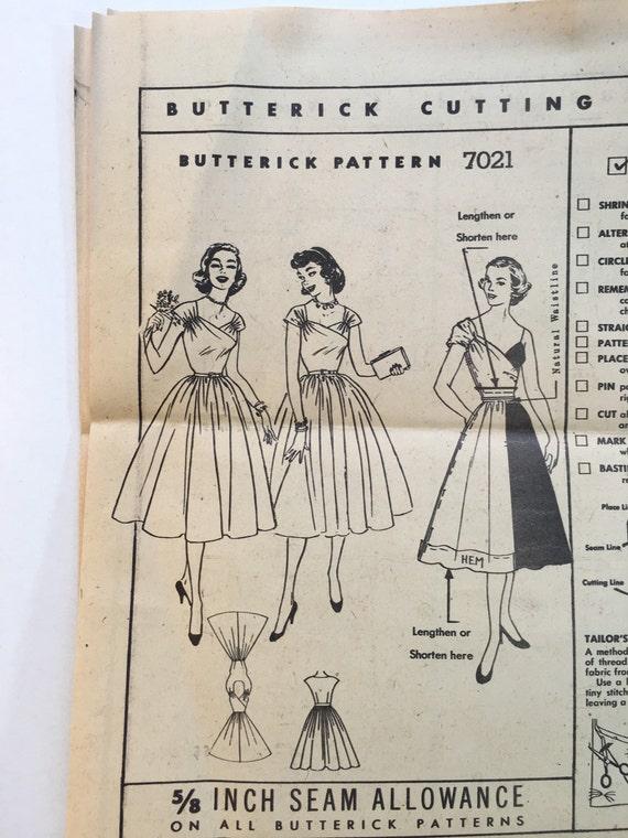 Patrón de vestido de falda completo de simplicidad 7021 | Etsy