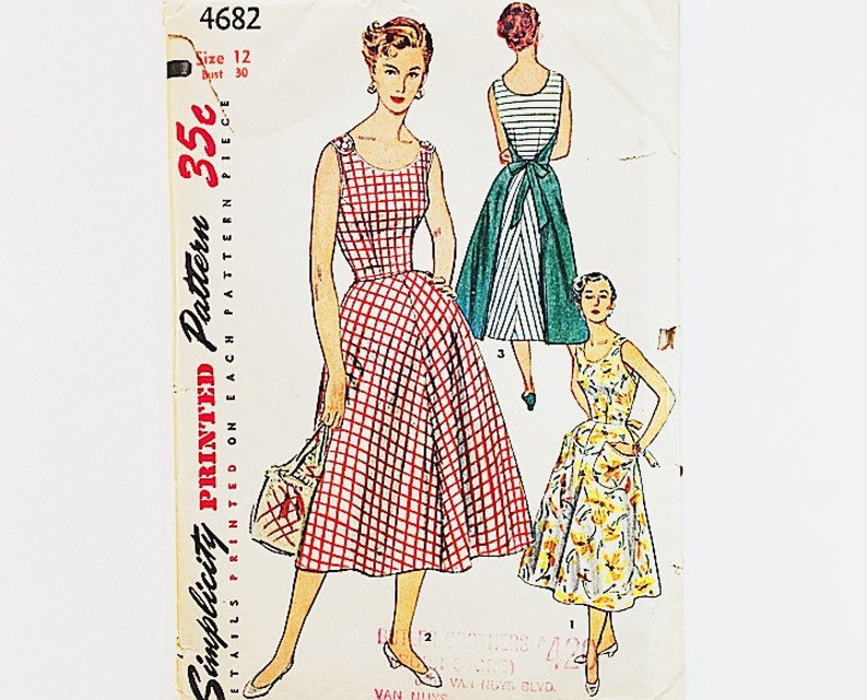 Simplicity 4682 Dress Pattern 50s Wrap Around Dress Pattern  adddd1b26b05