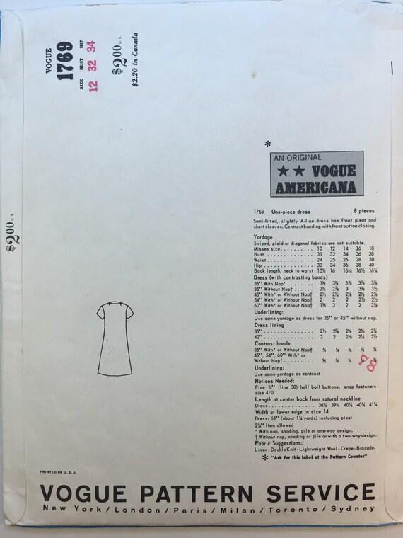 Oscar de la Renta patrón Patrón de vestido de moda 1769 | Etsy