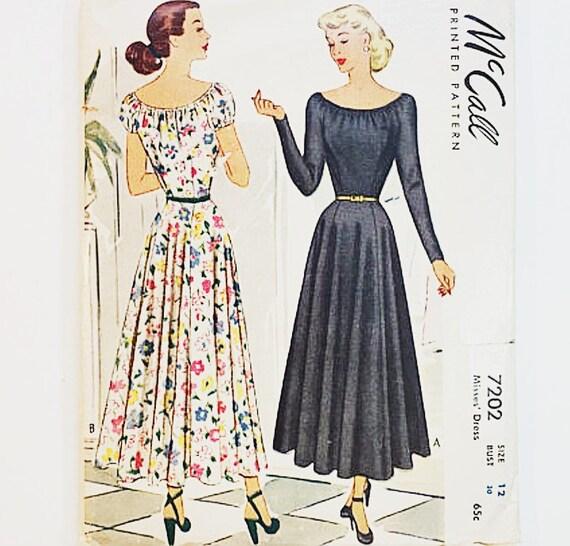 40 años patrón de vestido de noche Patrón de vestido de | Etsy