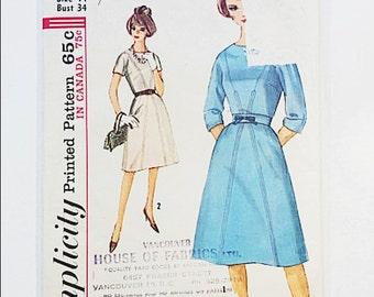 60s Sheath Dress Pattern | Simplicity 5063 One Piece Dress Pattern | 60s Sewing Pattern