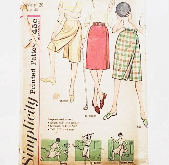 Patrón de falda bolera simplicidad 3922 años 50 dividido   Etsy