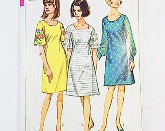 60s Dress Pattern | Simplicity 6997 Misses Peasant Dress Pattern | 60s Sewing Pattern