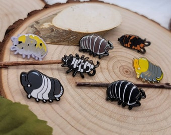 Isopod and Mushroom mini pins