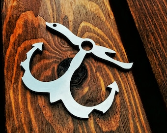 Lost Anchor - EDC multitool keychain pocket tool (BRASS or STEEL)