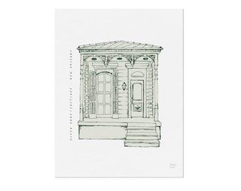 Queen Anne/Eastlake - Homes of New Orleans - Art Print, Wall Art, Home Decor