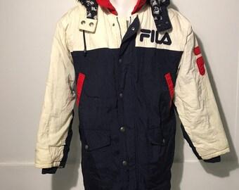 e0d5b07bd Fila jacket   Etsy